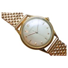 Vintage 18K Rose Gold Movado Wristwatch with 14K Rose Gold  Band