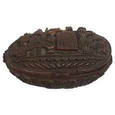 Brazalian Palm Coquilla Nut French Snuff Box 19th Century