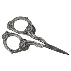 Pair Of Unger Brothers Sterling Sewing Scissors