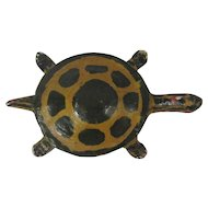 Cold Painted Spelter Turtle Paperweight