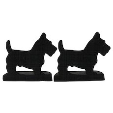 Vintage Cast Iron Scottie Dog Bookends