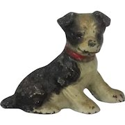 Vintage Hiubley Cast Iron Boston Terrier Place Card Holder