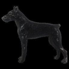 Miniature Metal Doberman Pincer Dog