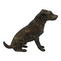Antique Austrian Vienna Cold Painted Bronze Dog