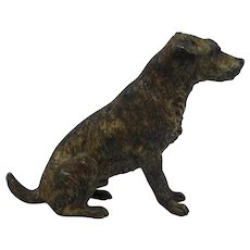 Antique Austrian Vienna Cold Painted Bronze Dog