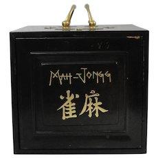 Vintage Chinese Bone Tile Mah-Jongg Set Complete