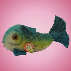 """Steiff """"Flossy"""" Smallest Blue Fish"""