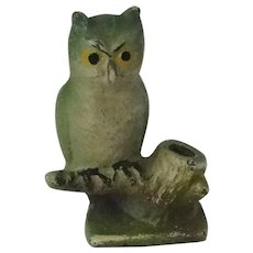 Hubley Cast Iron Pencil Holder Owl