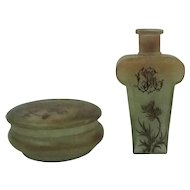 C. Vessiere Nancy Perfume Bottle & Dresser/Vanity Box