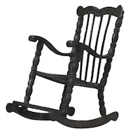 Miniature Sterling Silver Rocking Chair