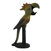 Hubley Cast Iron Parrot With Comb Bottle Opener