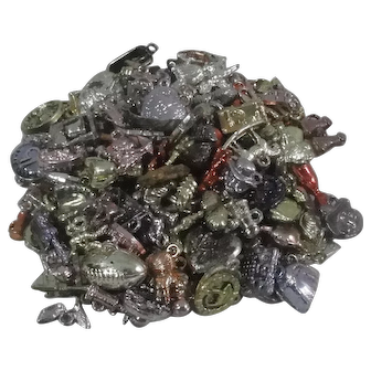 Over 180 Plastic Charms From The 1960's Era