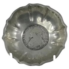 Sterling Silver Bowl With Inset Coin Bottom