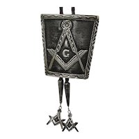 Sterling Silver Native American Masonic Bolo Signed Bennett