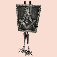 Sterling Silver Native American Masonic Bolo Signed Bennett