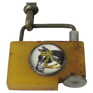 Watch Chain & Bakelite Fob With Essex Horse Crystal.