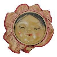 Chalkware Baby Faced String Holder