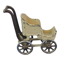 Kilgore Cast Iron Doll Baby Stroller