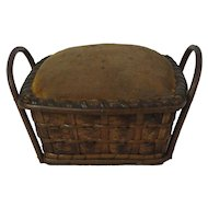 Early Handled Basket Pin Cushion