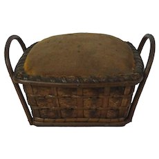 Early Handled Basket Pin Cushion