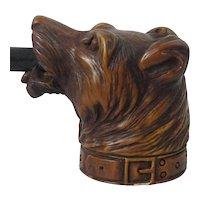 Vintage meerschaum Pipe Of Dogs Head