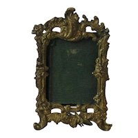 19th Century Miniature Ormolu Easel Picture Frame