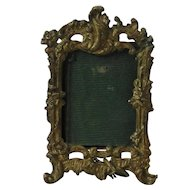 19th Century Miniature Ormolu Easel Picture Frame