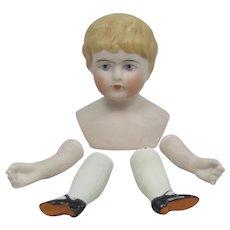 German Bisque Shoulder Head Doll Parts