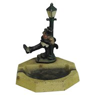 John Wright Hubley Lamp Post Drunk Cast Iron Ashtray