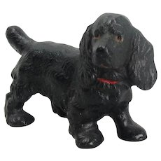 Hubley Cast Iron Cocker Spaniel Dog Paperweight