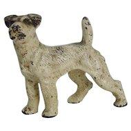 Hubley Cast Iron Fox Terrier Dog Paperweight