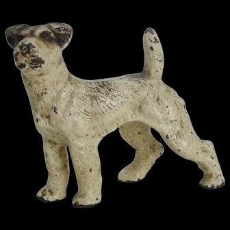 Hubley Cast Iron Fox Terrier Paperweight