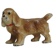 Hubley Cast Iron Cocker Spaniel Dog Doll House Size