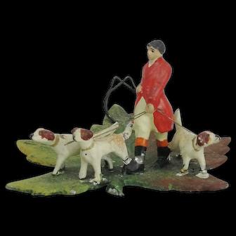 Miniature Huntsman And Hounds Place Card Holder Figure