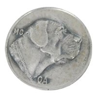 Sterling Silver Mastiff Dog Pin