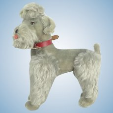 "Steiff ""Snobby"" Articulating Gray Mohair Poodle With Tags"