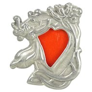 Miniature Sterling Art Nouveau Doll House Standing Picture Frame