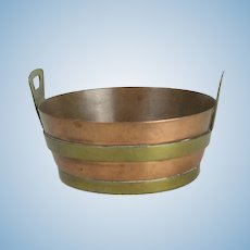 Miniature Doll House Copper And Brass English Wash Tub