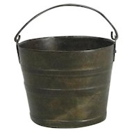 Miniature Doll House Metal Bucket With Bail Handle