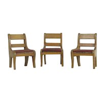 3 Schneegas Wood Chairs