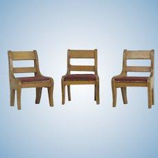 3 Schneegas Wood Chairs