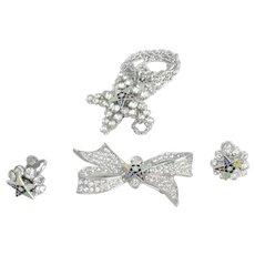 Collection of Masonic Eastern Star Rhinestone Jewelry