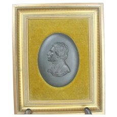 Wedgwood Basalt Framed Plaque Of Beethoven