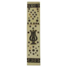 Antique German Bone Inlaid Needle Case Circa 1820
