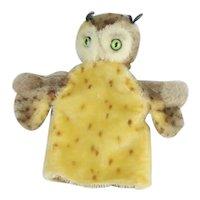 "Steiff ""Wittie Owl Hand Puppet"