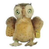 "Steiff ""Wittie"" Owl With Button"