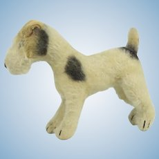 "Large Steiff ""Foxy"" Fox Terrier With Button"