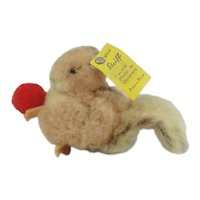 Steiff Wool Squirrel With Button