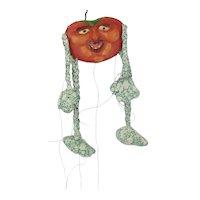 Vintage WPA Pumpkin Paper Mache Marionette Puppet Artist Signed