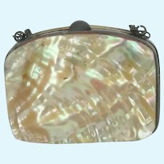 Mother Of Pearl Shell Purse For Fashion Doll